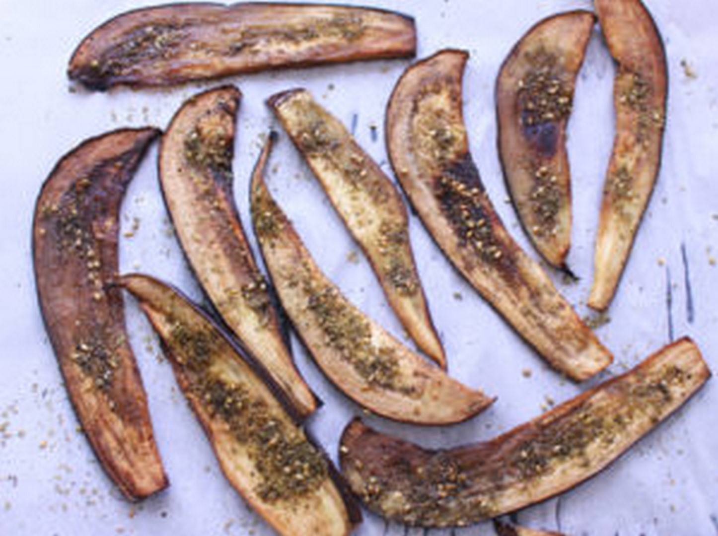 zaatar-spiced eggplant bacon