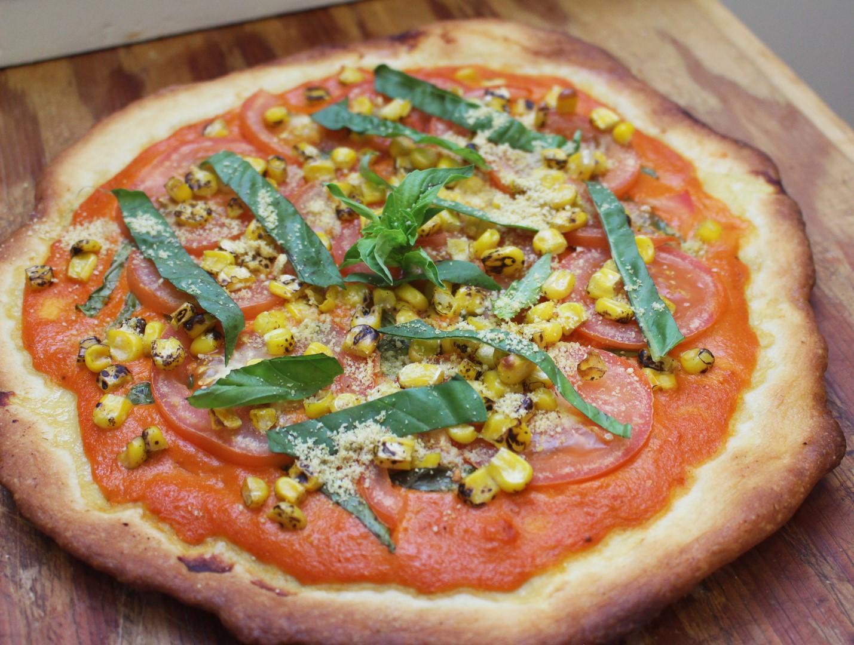 Creamy Sun Dried Tomato Pizza (Vegan)