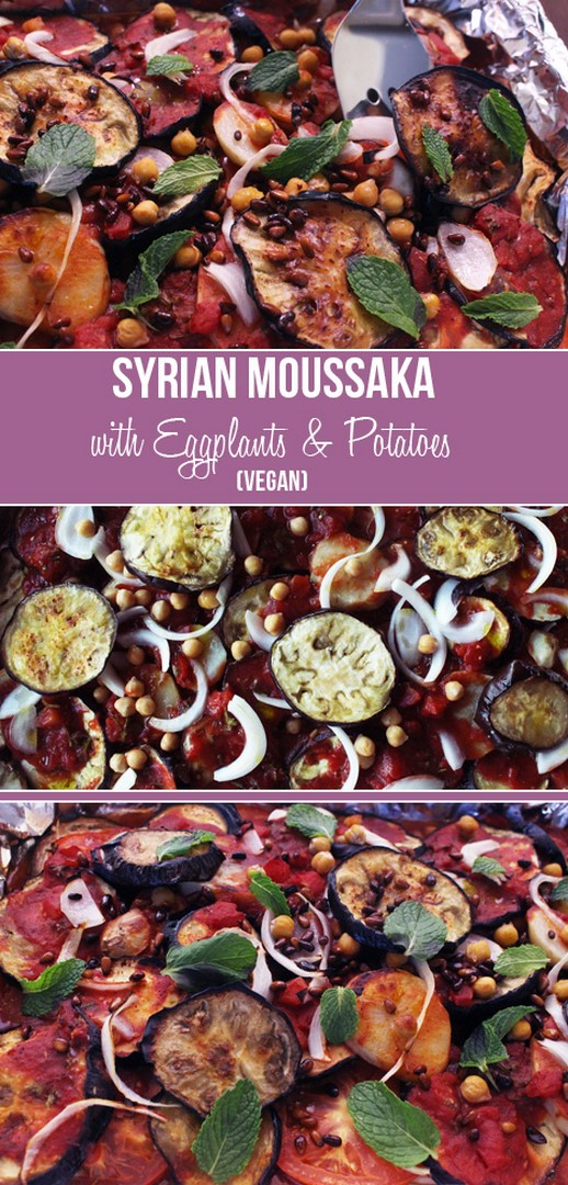 Syrian Moussaka with Eggplants & Potatoes (Vegan) | Zena 'n Zaatar