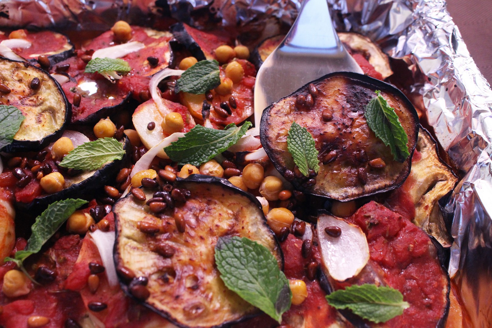Syrian Moussaka with Eggplant and Potato (Vegan)