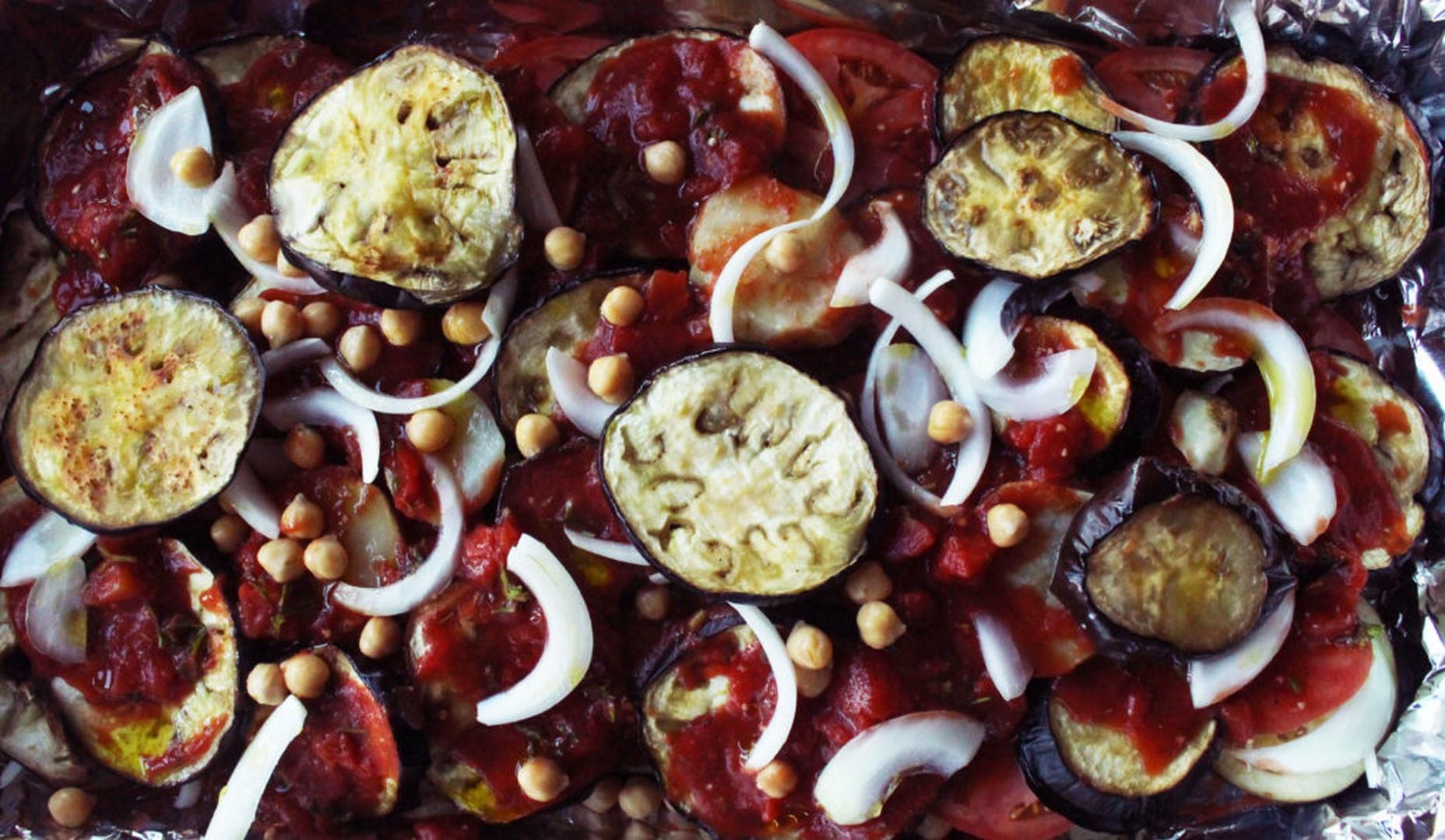 syrian moussaka vegan eggplant potato