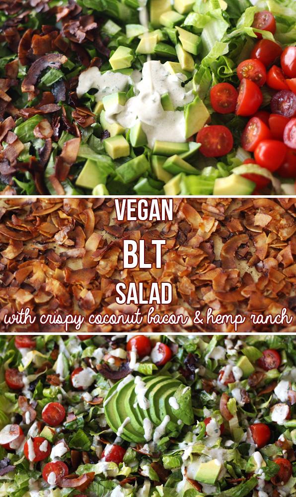 Vegan BLT Salad with Hemp Ranch Dressing (V, GF) | Zena 'n Zaatar