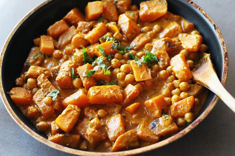 butternut squash panang curry thai chickpea skinny peanut coconut vegan vegetarian gluten free zenanzaatar food blog recipe