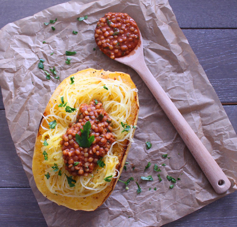 Vegan Spaghetti Squash Bolognese (Gluten-Free)