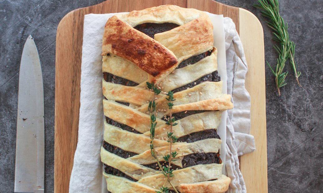 vegan seitan wellington holiday roast thanksgiving vegetarian beef zenandzaatar recipe