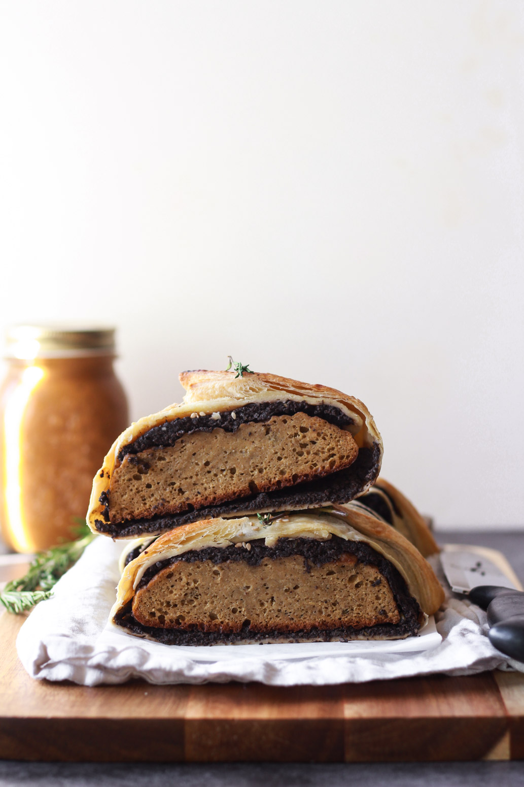 vegan seitan wellington holiday roast thanksgiving vegetarian beef zenandzaatar recipe