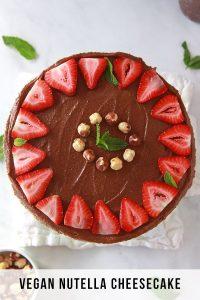Vegan Nutella Cheesecake