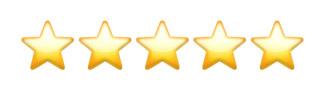 100% 5-star reviews!